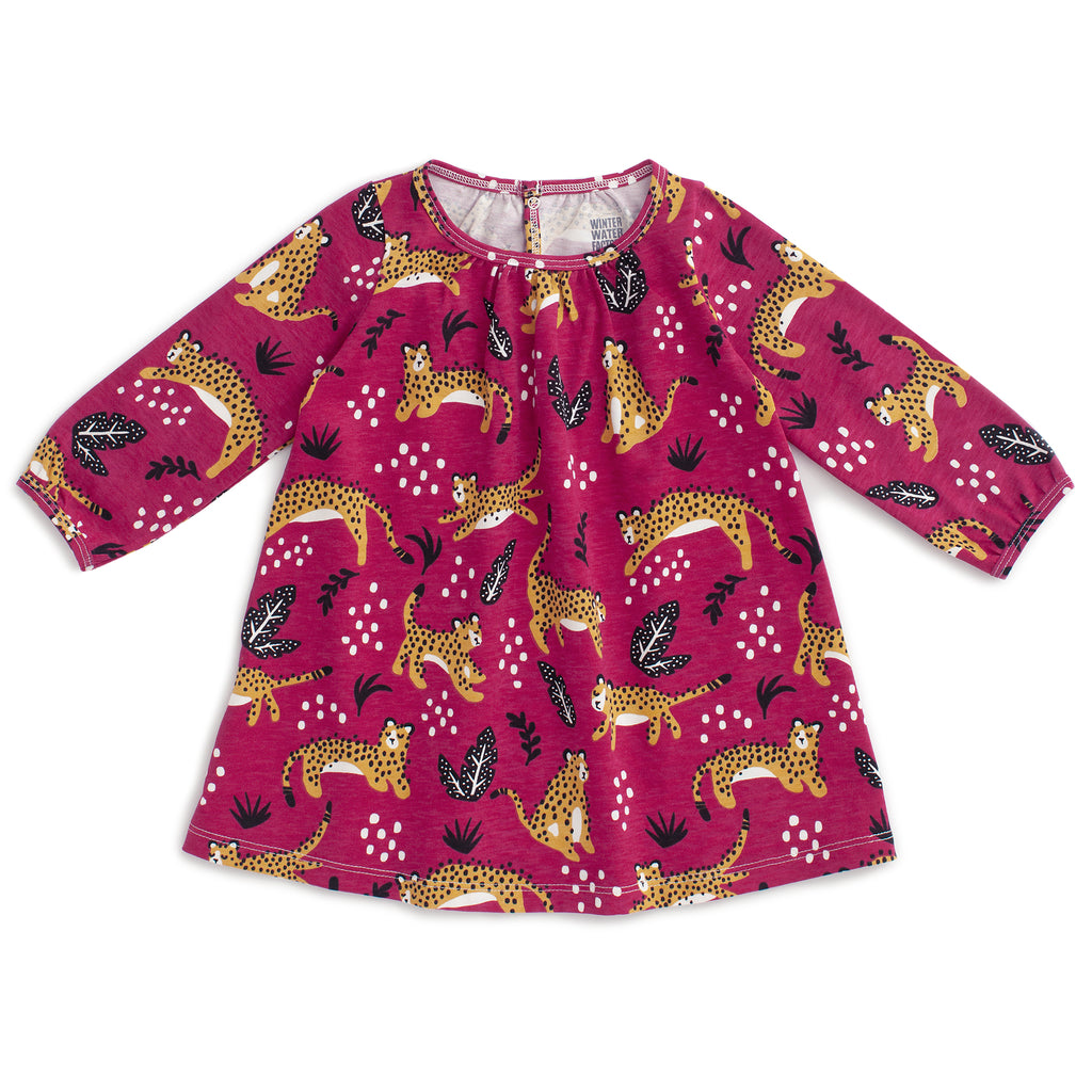 Juniper Baby Dress - Wildcats Plum