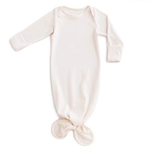 Knotted Baby Gown - Solid Natural