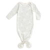 Knotted Baby Gown - High Seas Pale Blue