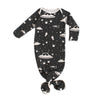 Knotted Baby Gown - Outer Space Charcoal