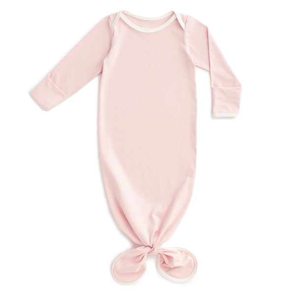 Knotted Baby Gown - Solid Pink