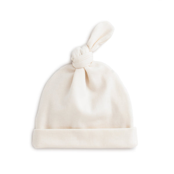 Knotted Baby Hat - Solid Natural