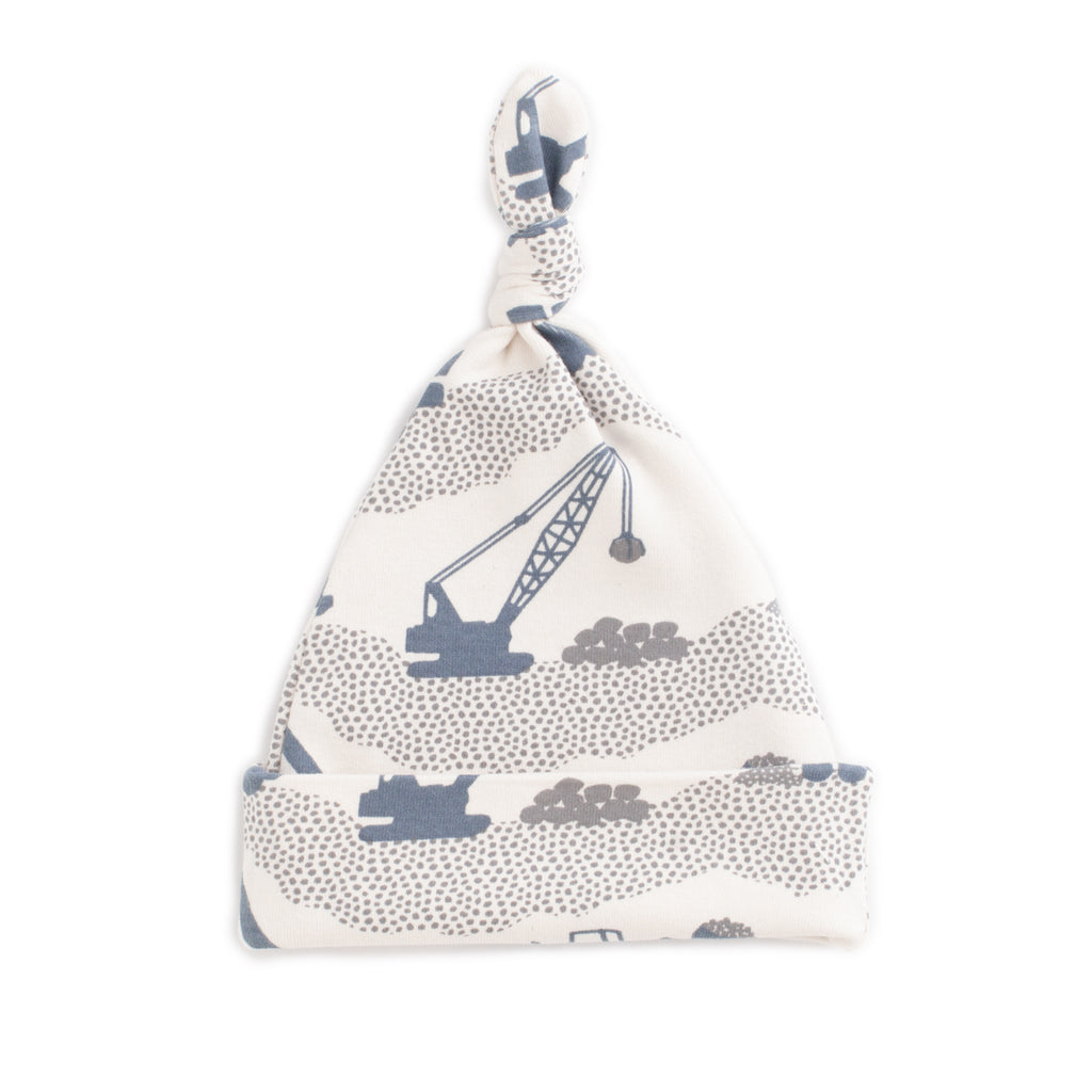 Knotted Baby Hat - Construction Slate Blue