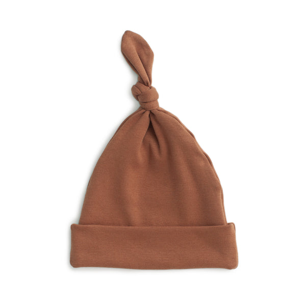 Knotted Baby Hat - Solid Chestnut