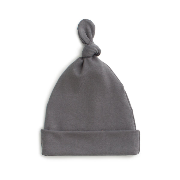 Knotted Baby Hat - Solid Charcoal