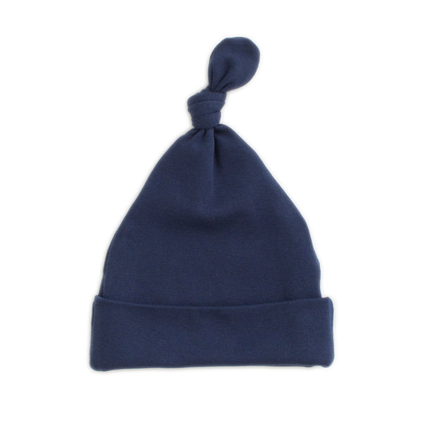 Knotted Baby Hat - Solid Night Sky