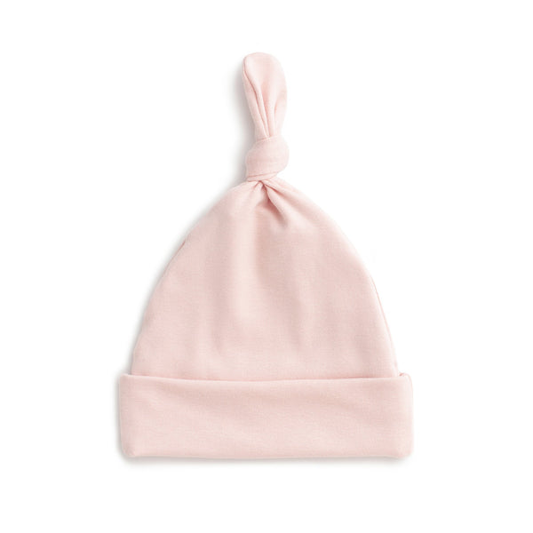 Knotted Baby Hat - Solid Pink