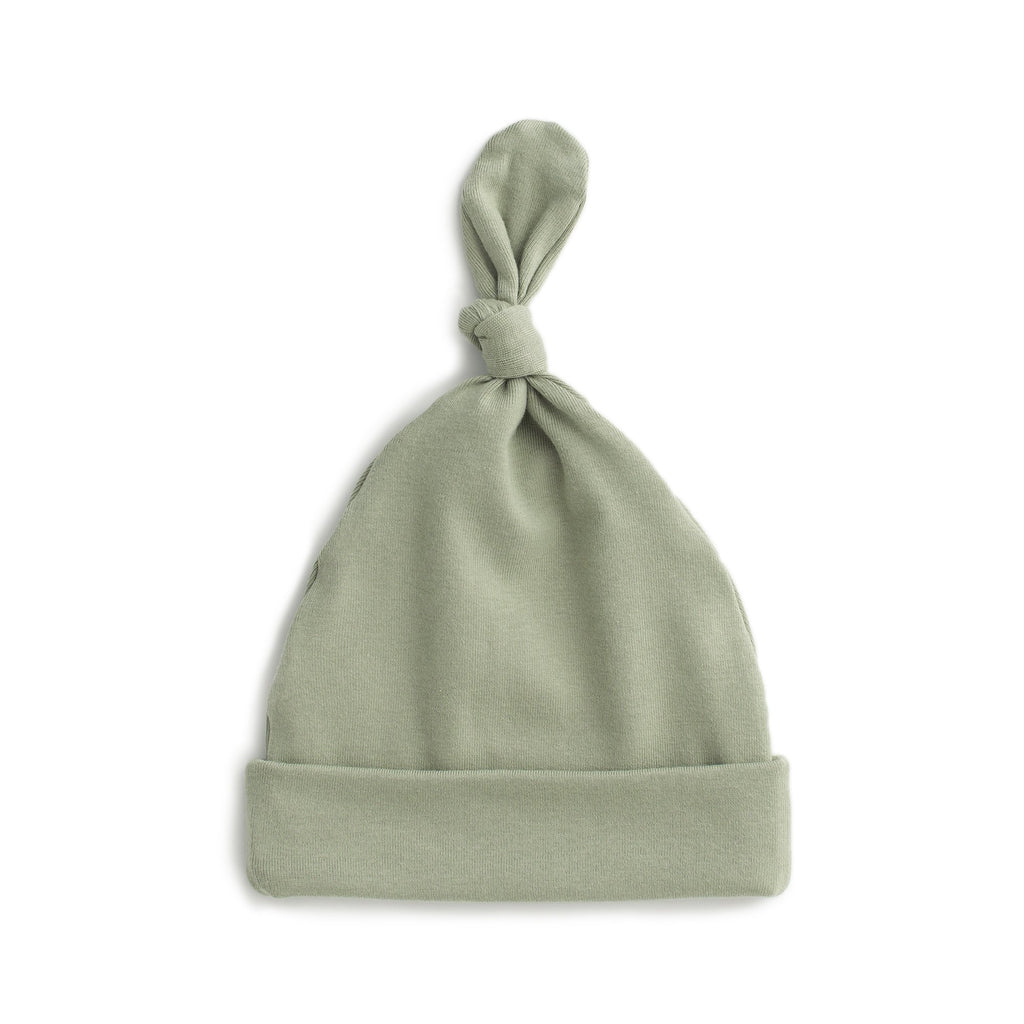 Knotted Baby Hat - Solid Sage