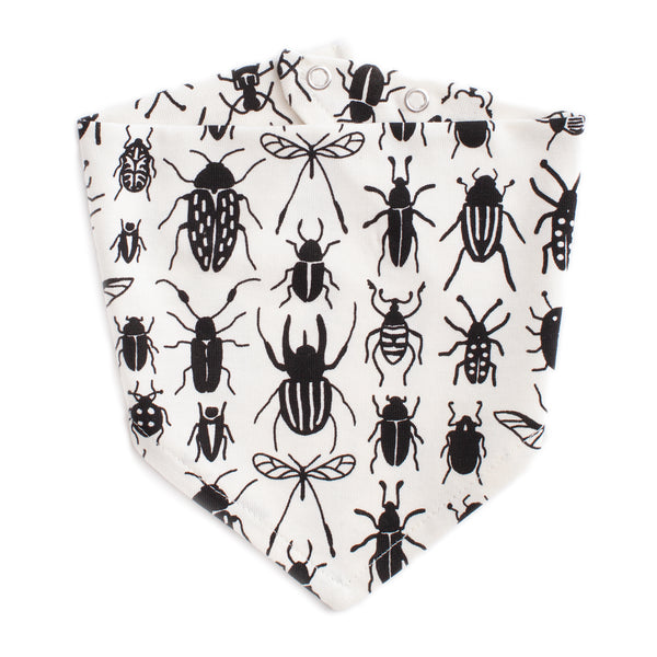 Kerchief Bib - Bug Collection Black