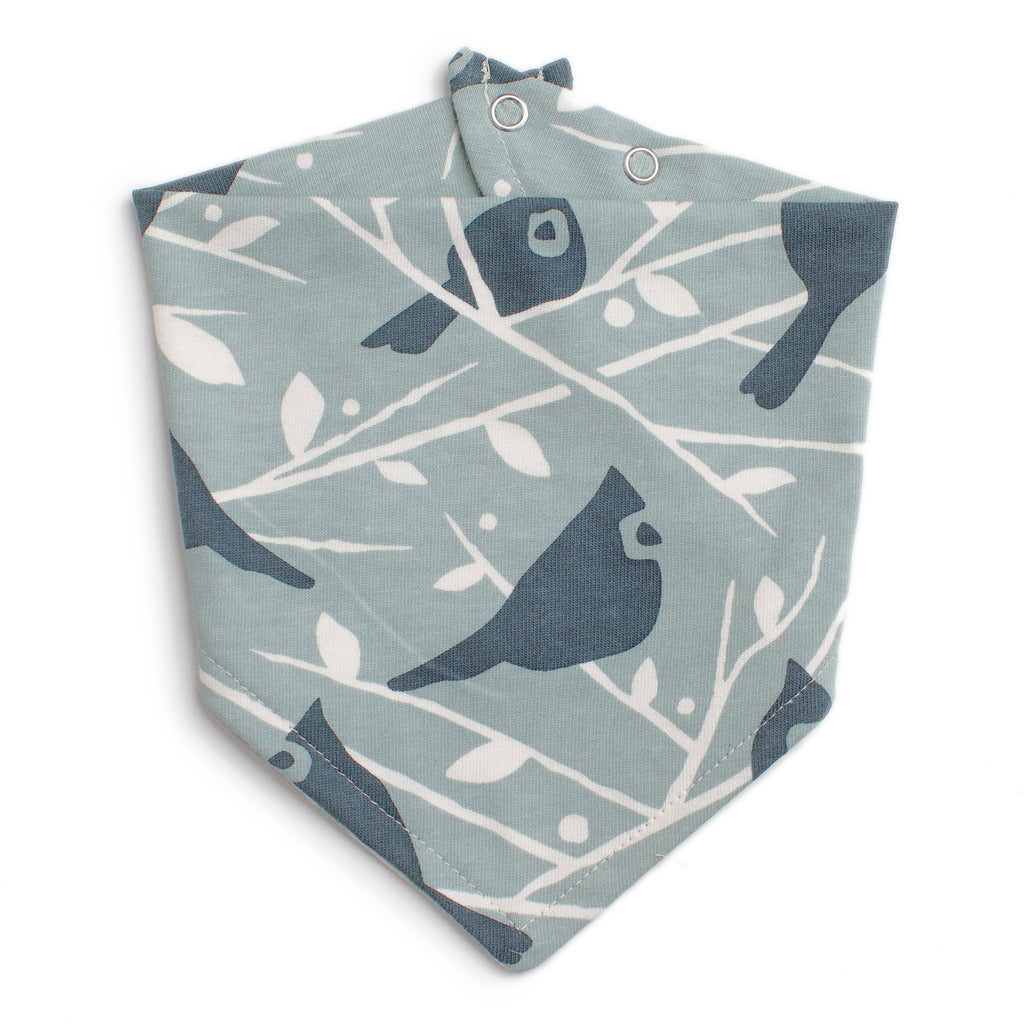 Kerchief Bib - Birds In the Trees Blue