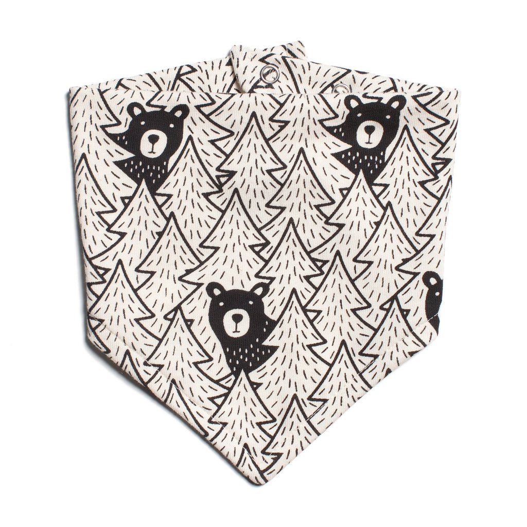 Kerchief Bib - Bears Black