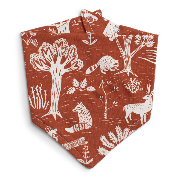 Kerchief Bib - In the Forest Chestnut