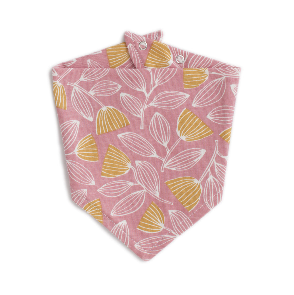 Kerchief Bib - Holland Floral Dusty Pink & Yellow