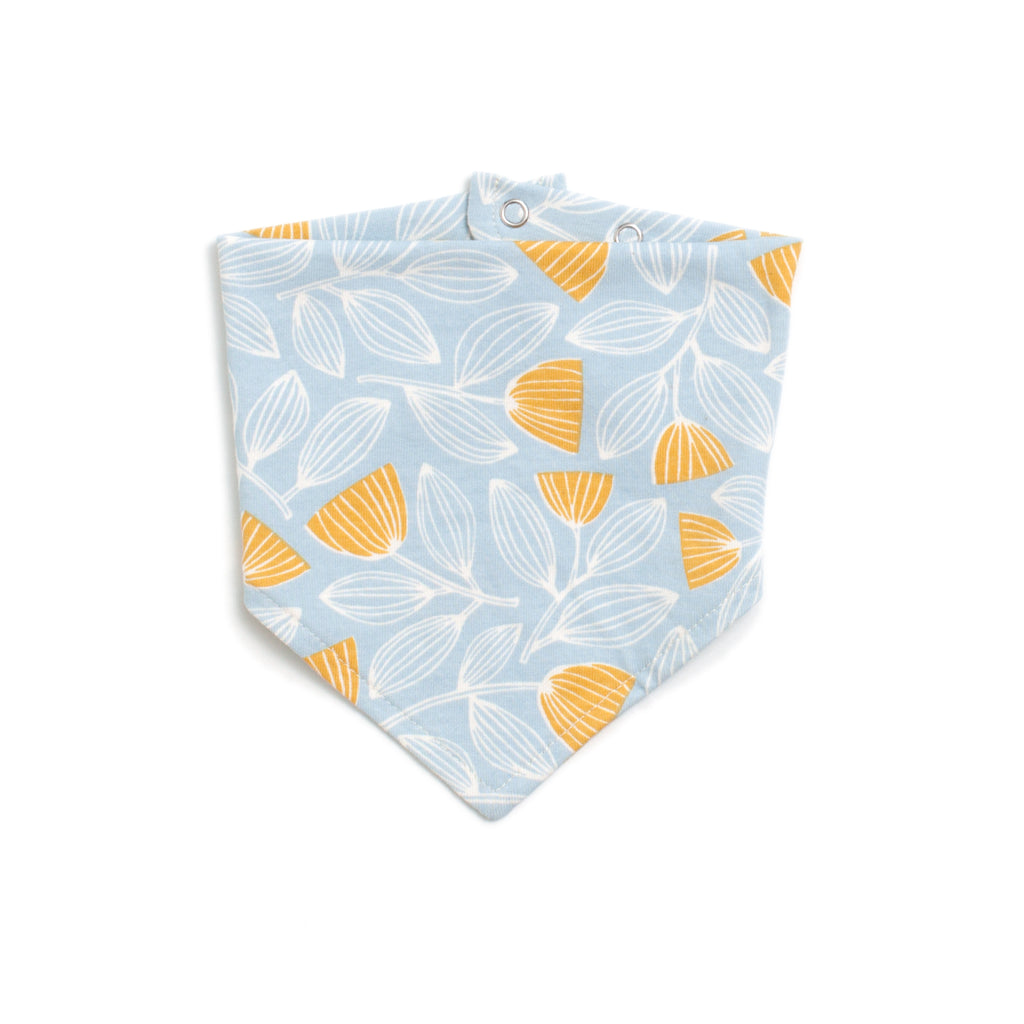 Kerchief Bib - Holland Floral Blue & Yellow