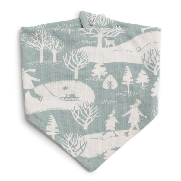 Kerchief Bib - On The ice Pale Blue