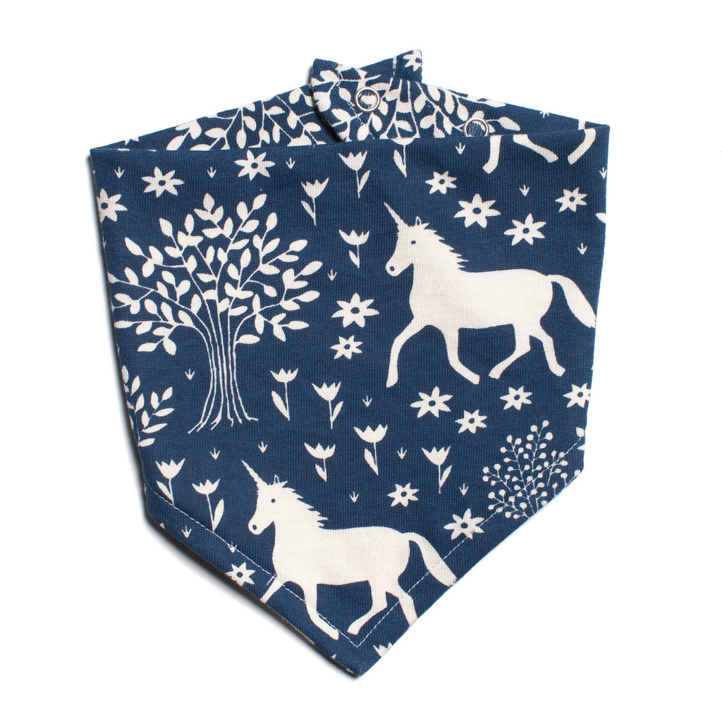Kerchief Bib - Magical Forest Navy