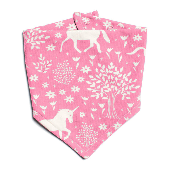 Kerchief Bib - Magical Forest Pink