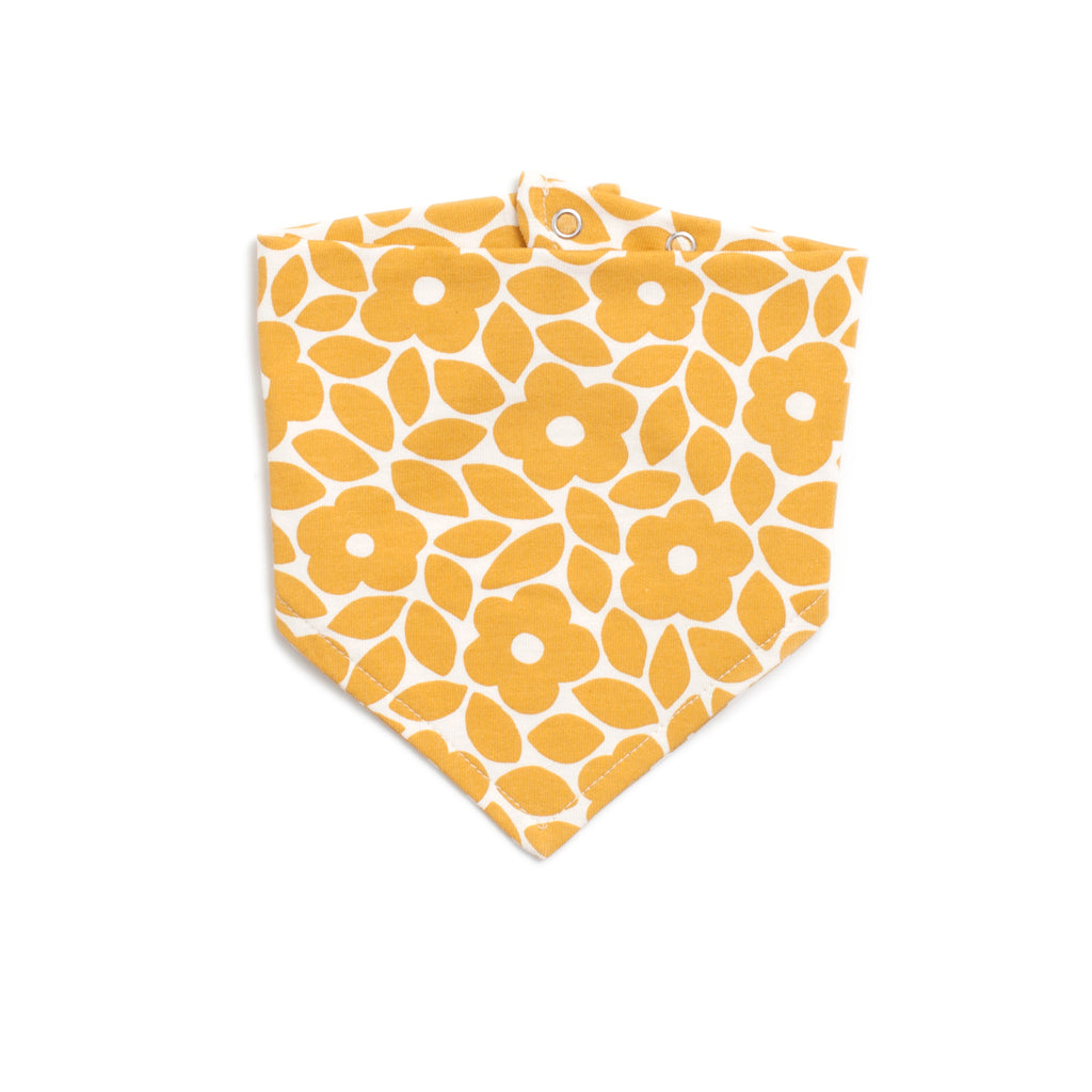 Kerchief Bib - Marrakesh Floral Yellow