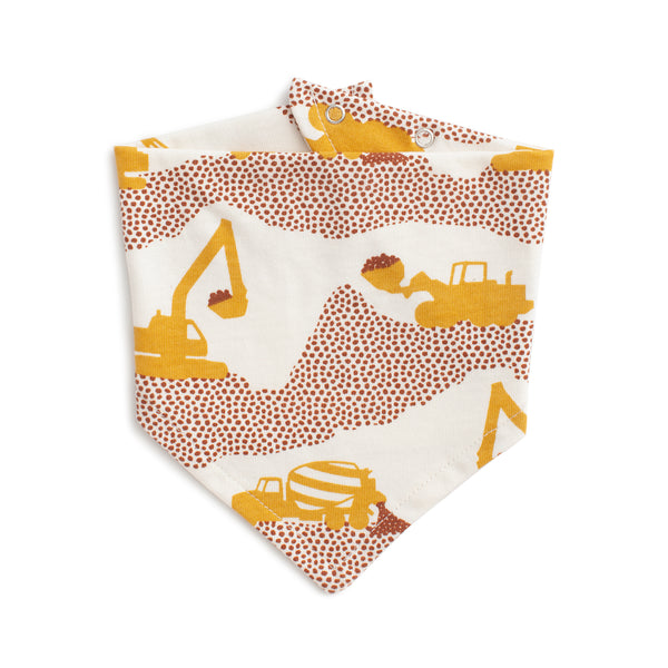 Kerchief Bib - Construction Yellow & Chestnut