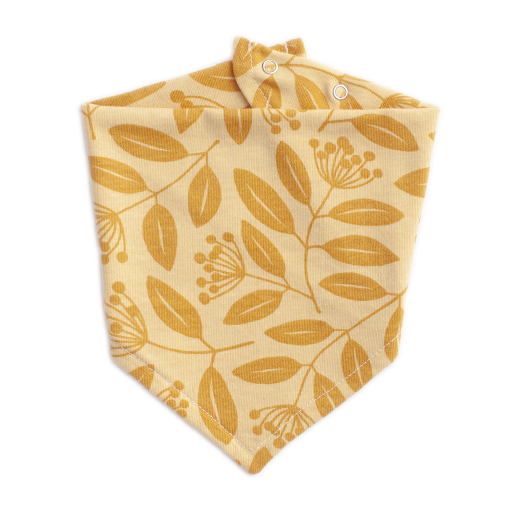 Kerchief Bib - Elderberries Ochre