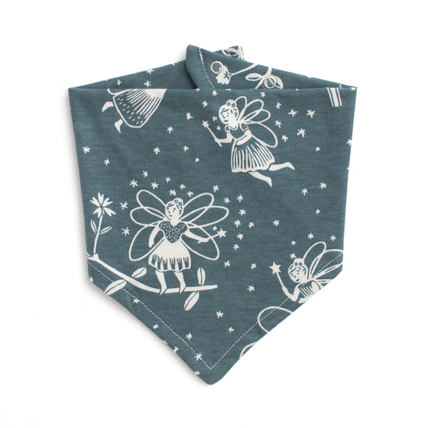 Kerchief Bib - Fairies Teal