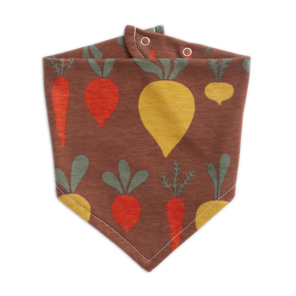 Kerchief Bib - Root Vegetables Chestnut