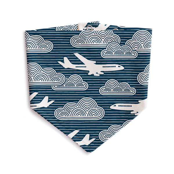 Kerchief Bib - In The Clouds Navy