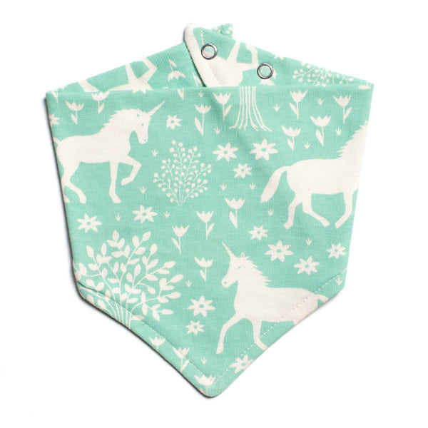 Kerchief Bib - Magical Forest Mint