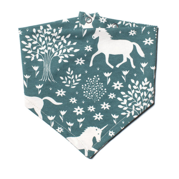Kerchief Bib - Magical Forest Teal