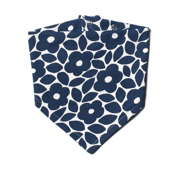 Kerchief Bib - Marrakesh Floral  Midnight Blue