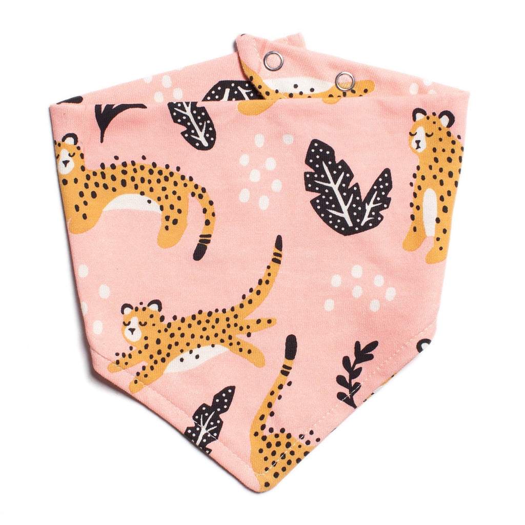 Kerchief Bib - Wildcats Blush Pink
