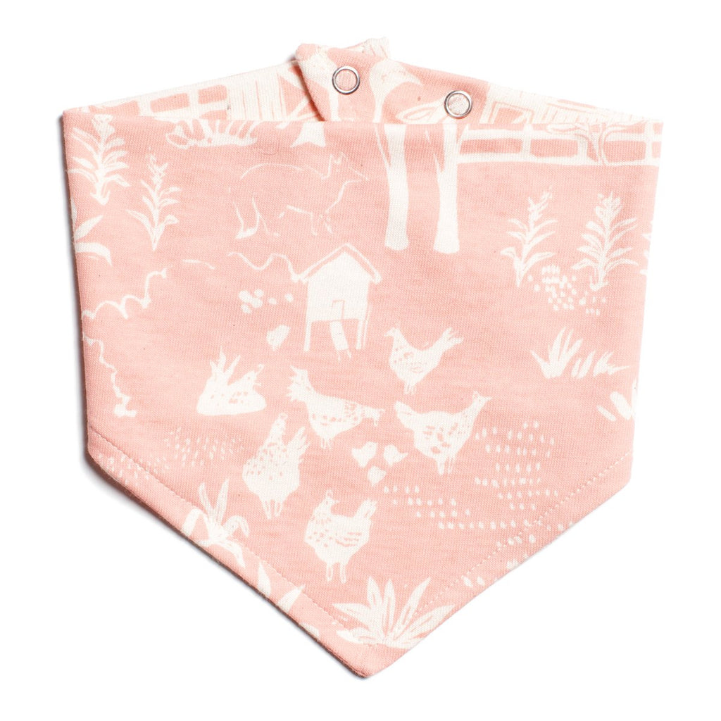 Kerchief Bib - The Farm Next Door Blush Pink