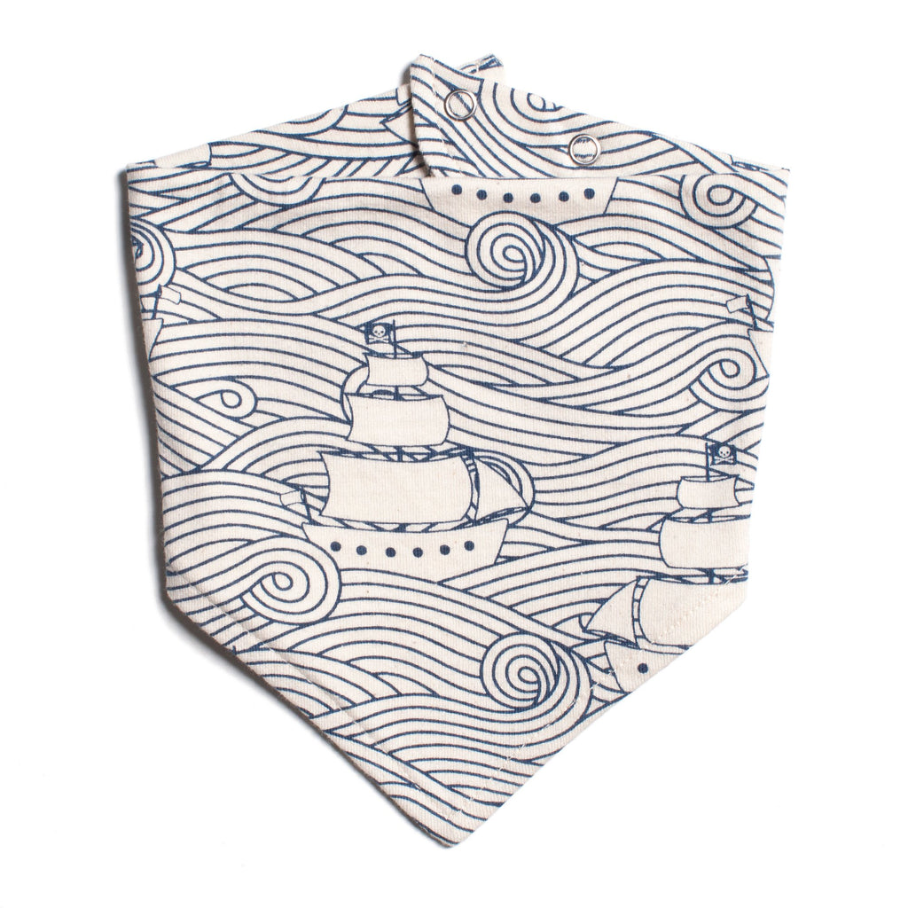 Kerchief Bib - High Seas Navy