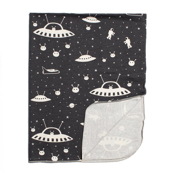Lightweight Jersey Blanket - Outer Space Charcoal