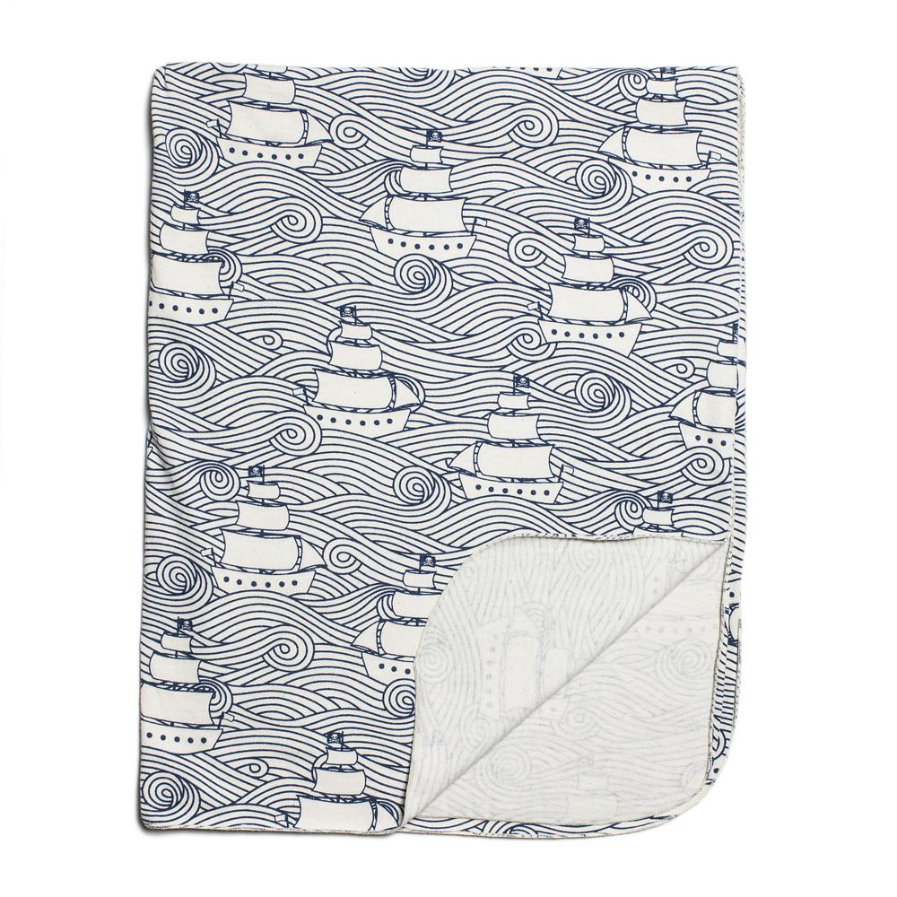 Lightweight Blanket - High Seas Navy
