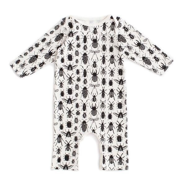 Long-Sleeve Romper - Bug Collection Black