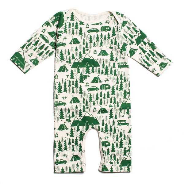 Long-Sleeve Romper - Campground Green