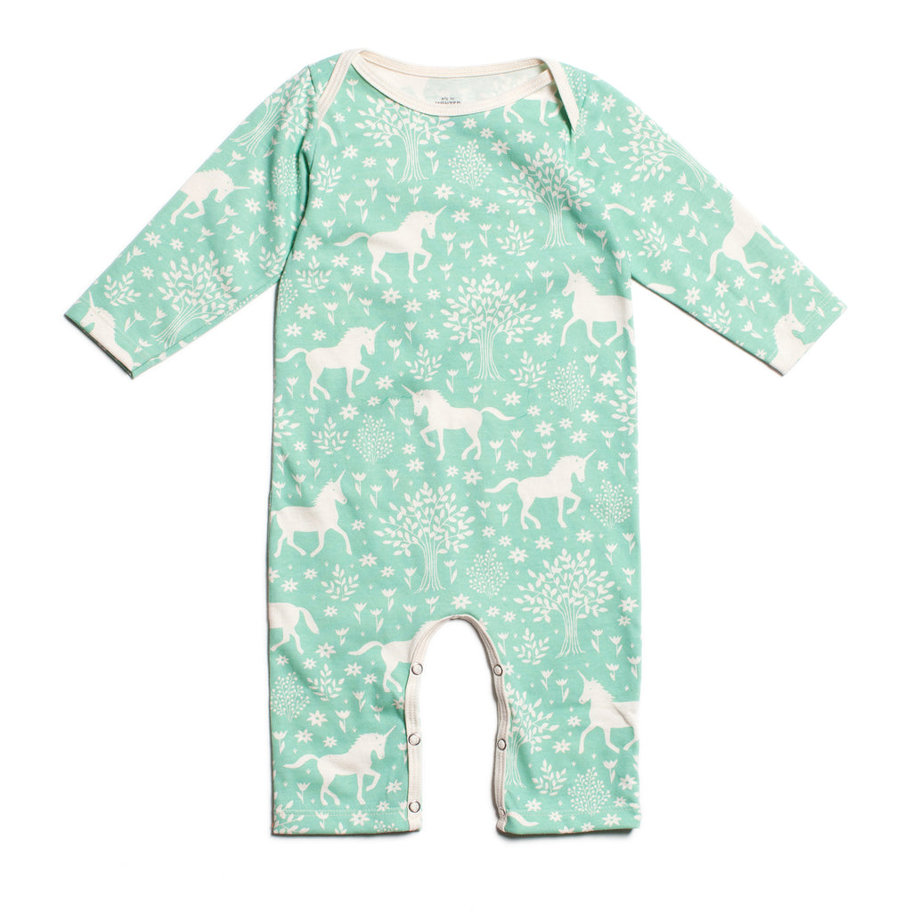 Long-Sleeve Romper - Magical Forest Mint