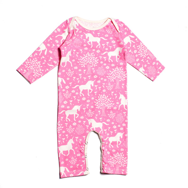 Long-Sleeve Romper - Magical Forest Pink