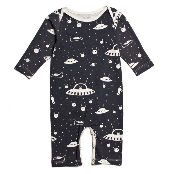Long-Sleeve Romper - Outer Space Charcoal