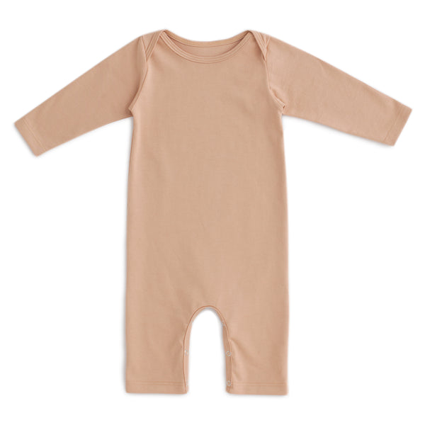 Long-Sleeve Romper - Solid Camel
