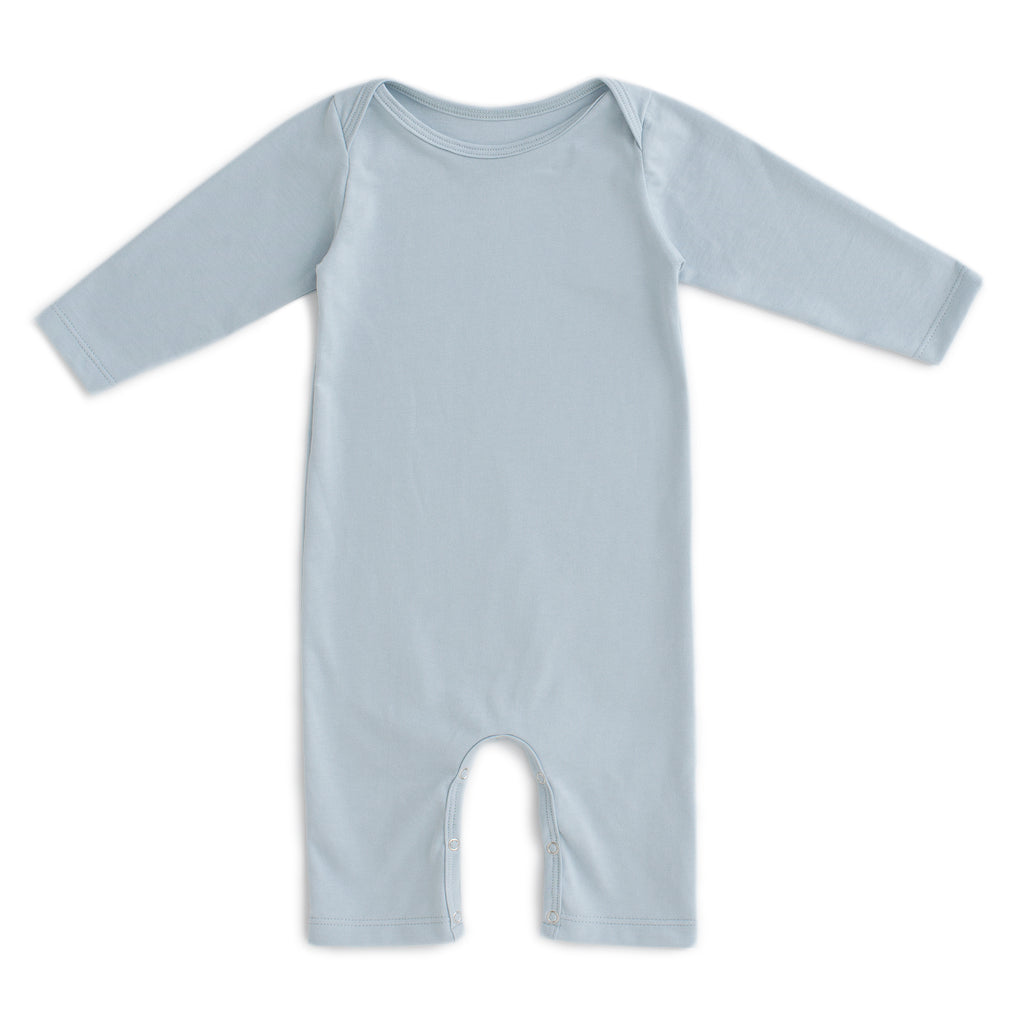 Long-Sleeve Romper - Solid Pale Blue