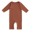 Long-Sleeve Romper - Solid Chestnut