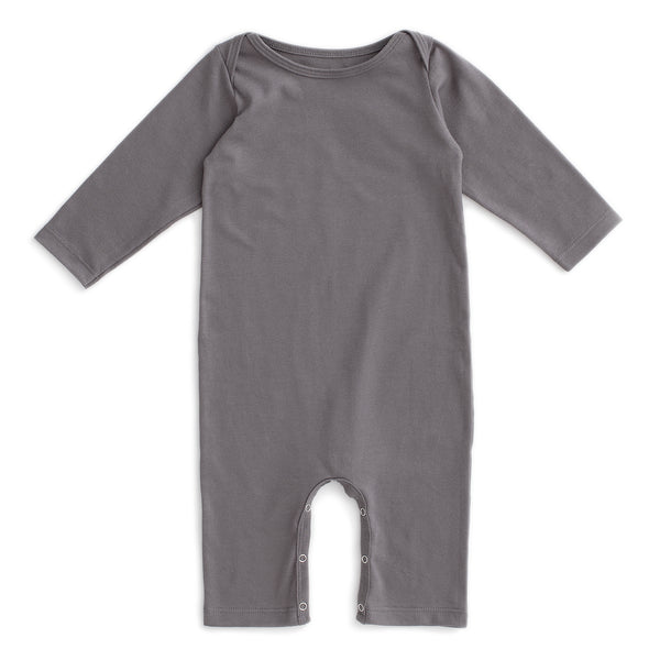 Long-Sleeve Romper - Solid Charcoal