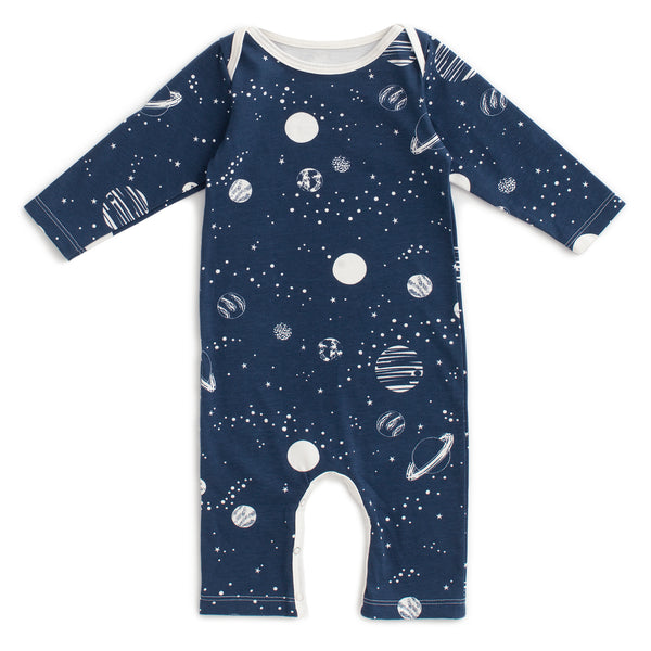 Long-Sleeve Romper - Planets Night Sky