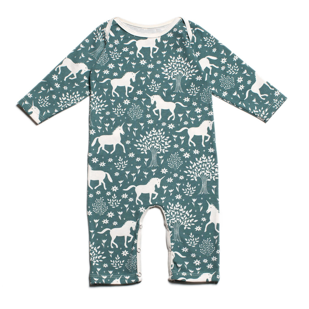 Long-Sleeve Romper - Magical Forest Teal