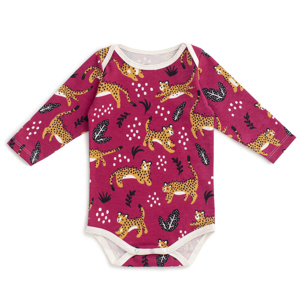 Long Sleeve Snapsuit - Wildcats Plum