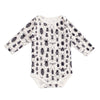 Long Sleeve Snapsuit - Bug Collection Black