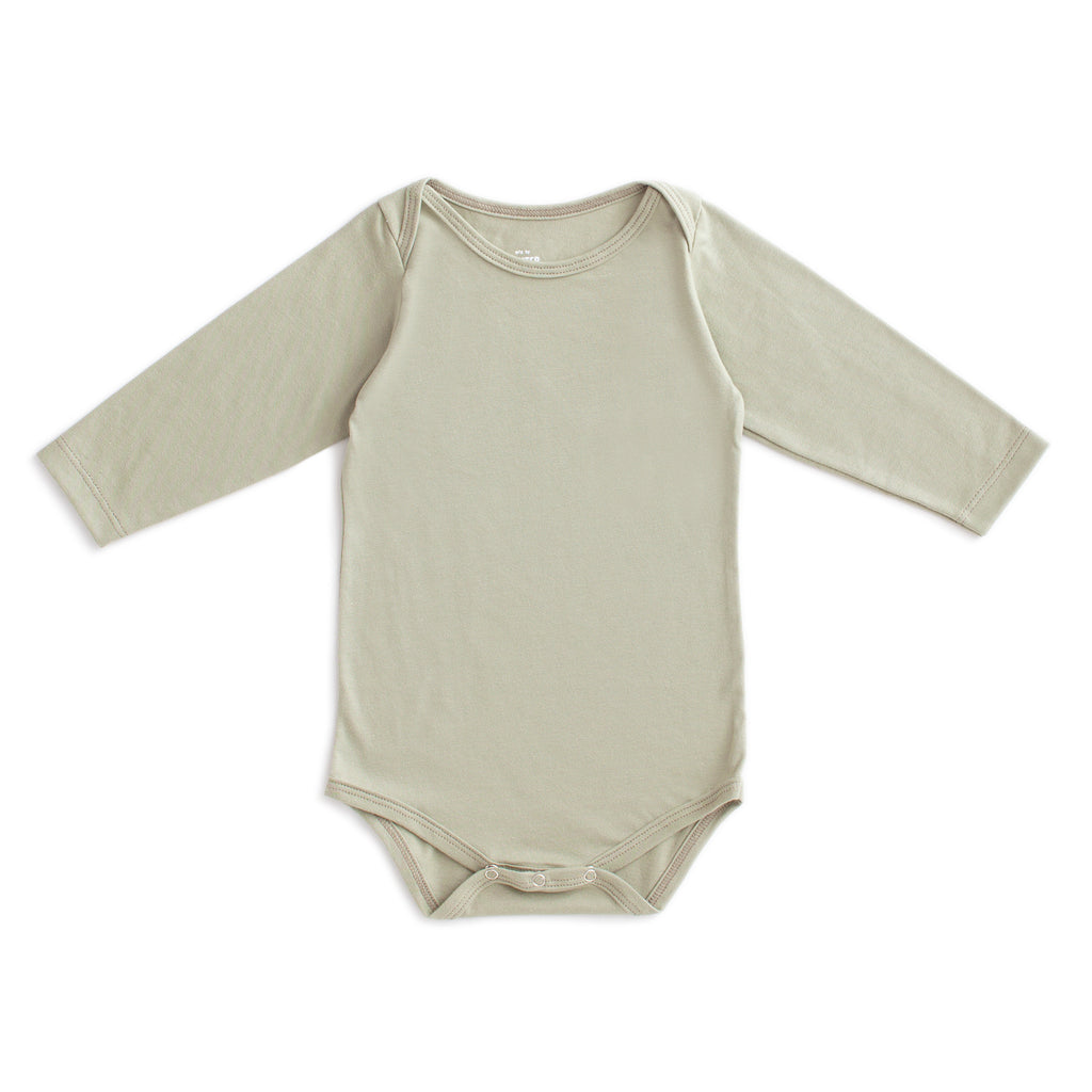 Long Sleeve Snapsuit - Solid Sage
