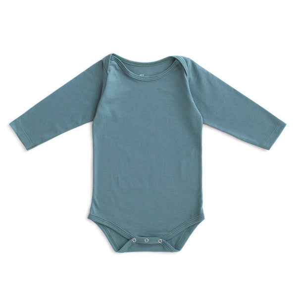 Long Sleeve Snapsuit - Solid Teal